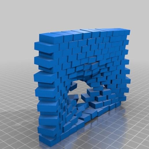 Télécharger fichier STL gratuit a pénétré un mur de briques • Design pour impression 3D, syzguru11