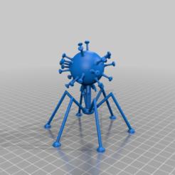 Descargar diseños 3D gratis el virus de la corona en los pies de los bacteriófagos, syzguru11