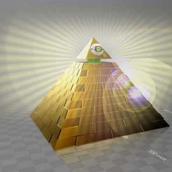 Télécharger fichier impression 3D gratuit pyramide à œil et monture en plomb de 5 mm - sommet fendu, syzguru11