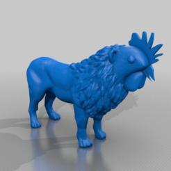 Télécharger fichier STL gratuit le coq au lion • Objet pour impression 3D, syzguru11