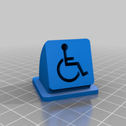 Descargar diseños 3D gratis signo de silla de ruedas, syzguru11