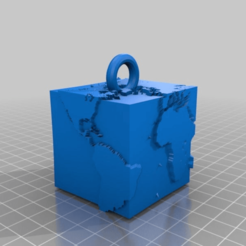 Download free 3D model earth box for keychain, syzguru11