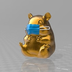 masken-hamster.jpg Télécharger fichier 3MF gratuit der Masken-Hamster - un nouveau spécimen peu glorieux • Modèle imprimable en 3D, syzguru11