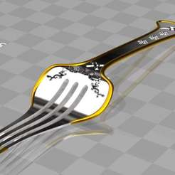 Download free 3D printing models fork engraved, syzguru11