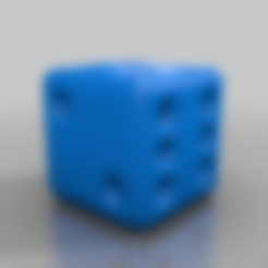 Download free STL file the smooth - relaxed dice • 3D printer design, syzguru11