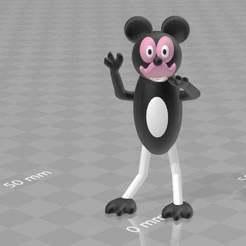 mickeymouse3.jpg Télécharger fichier 3MF gratuit mickey mouse • Plan à imprimer en 3D, syzguru11