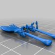 Download free STL file spoon and fork / girl - edition hannibal • 3D printable model, syzguru11