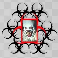 extremehazardpictureframe.jpg Télécharger fichier 3MF gratuit Cadre d'image des risques extrêmes • Plan imprimable en 3D, syzguru11
