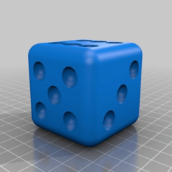 Download free 3D printer designs cheating dices 1 2 3 4 5 6 and regular one, syzguru11