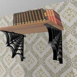 spider-bookshelf3.jpg Télécharger fichier 3MF gratuit bibliothèque en toile d'araignée - étagère pour téléphone portable • Plan pour imprimante 3D, syzguru11