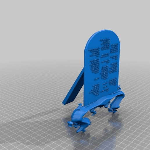 Download free STL file Table with laws in Hebrew /, inspiration by moses • 3D printable design, syzguru11