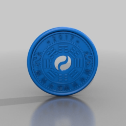 Download free 3D printer model chinese coin, syzguru11