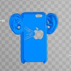 iphone-ears.jpg Download free STL file very slim iPhone 6 case with ears • 3D printer template, syzguru11