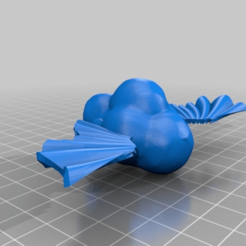 Download free 3D printing templates cloud with solid wings, syzguru11