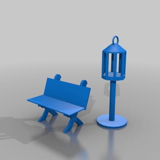 Télécharger fichier STL gratuit a klans laterndal und a klane Bank • Modèle pour impression 3D, syzguru11