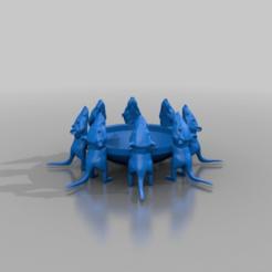 Télécharger fichier STL gratuit bol d'eau pour chat - petits rats • Plan pour imprimante 3D, syzguru11