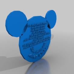 Télécharger fichier impression 3D gratuit Mickey Muttertag Plakette allemand, syzguru11