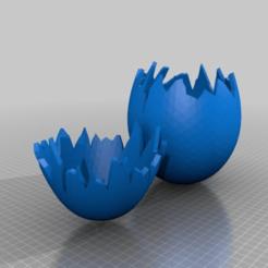 25bac86a0ca3a7eb0f18d6e4af532014.png Télécharger fichier STL gratuit œuf cassé ouvert / les morceaux s'emboîtent • Objet imprimable en 3D, syzguru11