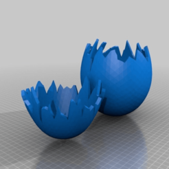 Download free 3D printer files opened broken egg / pieces fit together, syzguru11