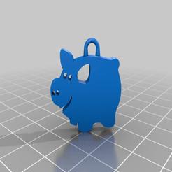savings-pig2-view-bare.png Télécharger fichier 3MF gratuit oink oink - petites boucles d'oreilles cochon • Objet imprimable en 3D, syzguru11