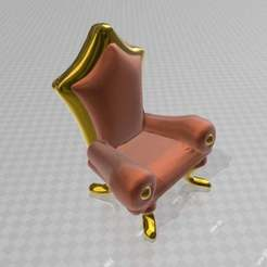 Download free 3D printing designs elegant chair, syzguru11
