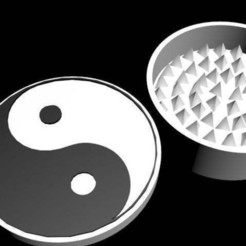 Download free STL file ying-yang grinder • Template to 3D print, syzguru11