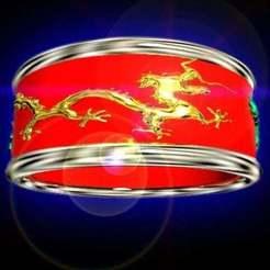 Download free 3D printer files three dragons ring, syzguru11