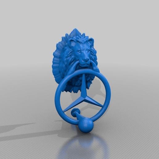 Download free STL file manual doorbell lion / einen stern reissen • 3D printer design, syzguru11