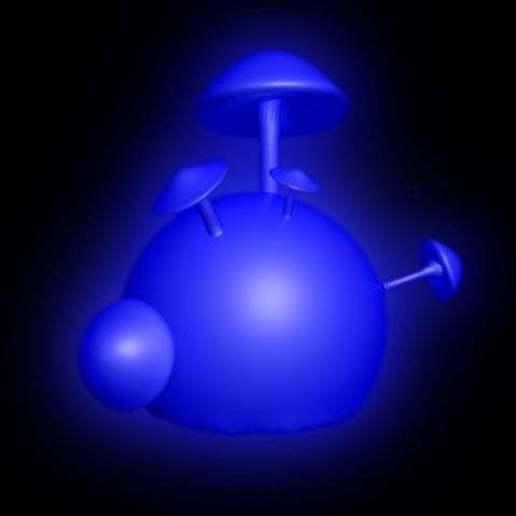 Télécharger STL gratuit Sphère de champignon - impression avec lueur dans le noir Filament UV, syzguru11