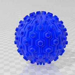 Imprimir en 3D gratis bola de patrón, syzguru11