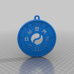 Download free 3D printing designs pendant coin, syzguru11