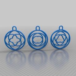 Download free 3D printing designs PENDANTS SPIRAL 2X 3X 4X, syzguru11