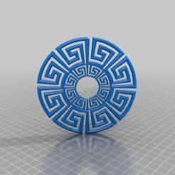 Imprimir en 3D gratis adorno griego, syzguru11