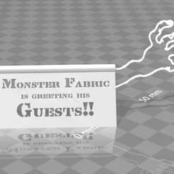 Download free 3D model MonsterFabric is greeting his guests - Desktop stand, syzguru11