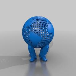 Descargar Modelos 3D para imprimir gratis globus earth, syzguru11