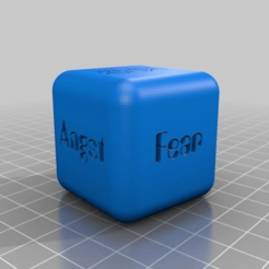 Download free 3D printer model DICE - play with ANgst Fear miedo страх 恐惧, syzguru11