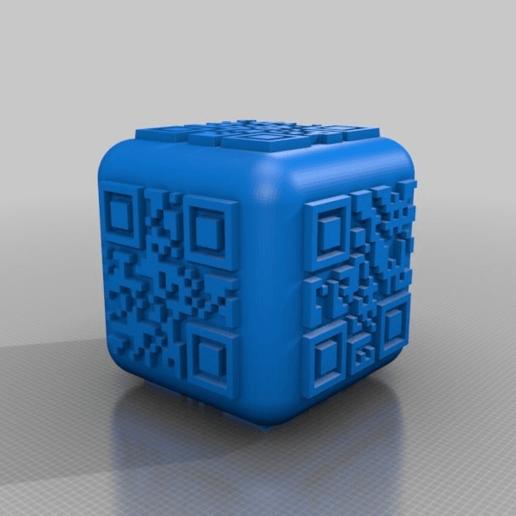 Download free STL file qr code dice • 3D printing design, syzguru11