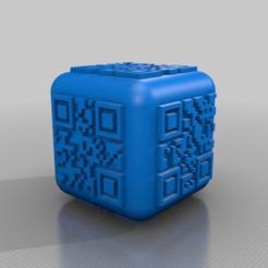 Download free STL qr code dice, syzguru11
