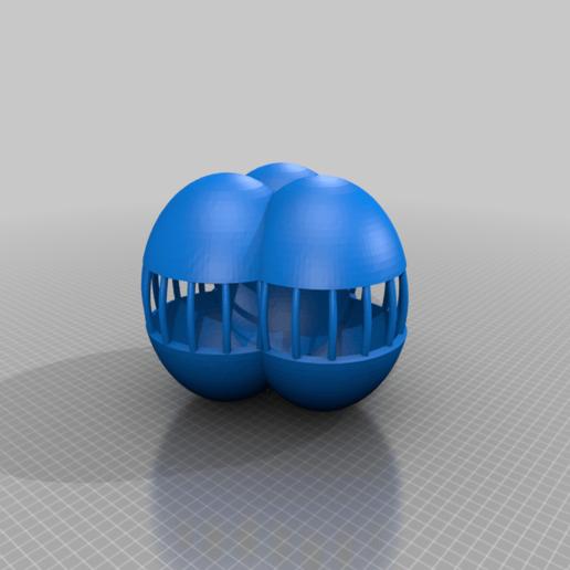sphereship3x.png Download free STL file 3x ball partly open • 3D print model, syzguru11