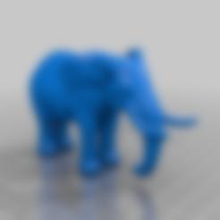 elephantsolid.stl Download free STL file elephant more solid ears • 3D printer design, syzguru11