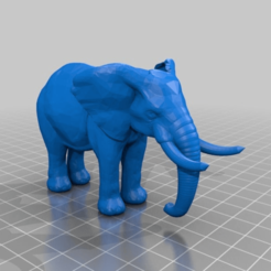 Download free 3D printing models elephant more solid ears, syzguru11
