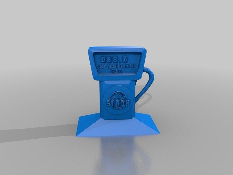 5e9264243ecff8f44eb0dedef15a4107.png Download free STL file STROH-Tankstelle / Grabstein  GAS-Station - Gravestone • Object to 3D print, syzguru11