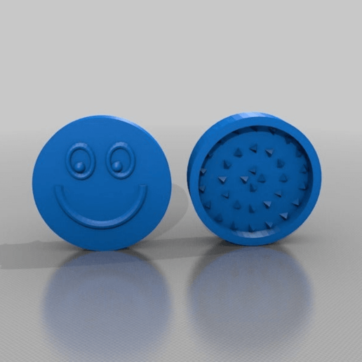 Download free 3D printing templates smiley grinder, syzguru11