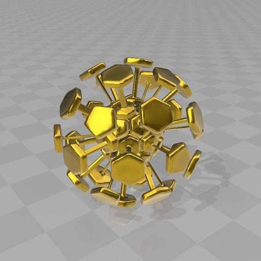 Télécharger fichier STL gratuit corona football VIRUS / ballon de football Fußball • Plan pour imprimante 3D, syzguru11