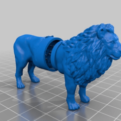 Download free STL file lion grinder • 3D printable template, syzguru11