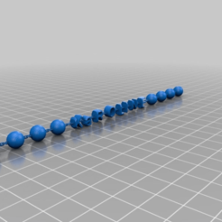Download free 3D printing files Letters and balls on a Chain Karoline, syzguru11