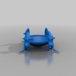 Télécharger fichier imprimante 3D gratuit bol d'eau pour chat - petits rats, syzguru11