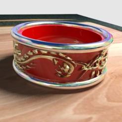 Download free 3D printer designs dragon ring, syzguru11