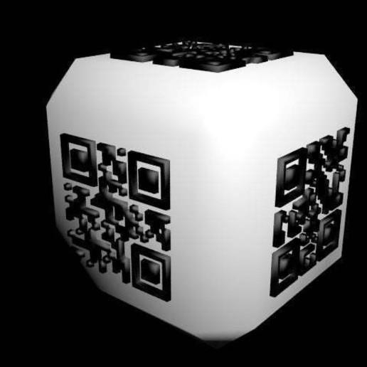 qrdice.jpg Download free STL file qr code dice • 3D printing design, syzguru11