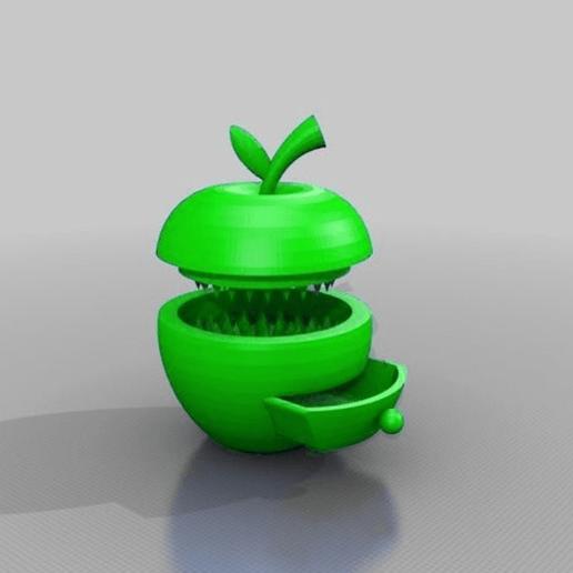 Download free 3D printer files apple grinder with herb-box, syzguru11
